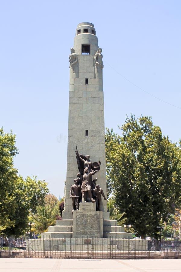 Denkmal in Santiago stockfotografie