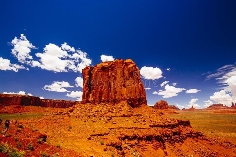 Denkmal-Tal, Navajo-Stammes- Park, Arizona, USA lizenzfreie stockbilder