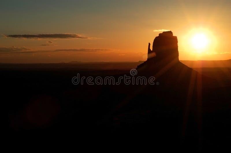 Denkmal-Tal-Sonnenuntergang stockbild