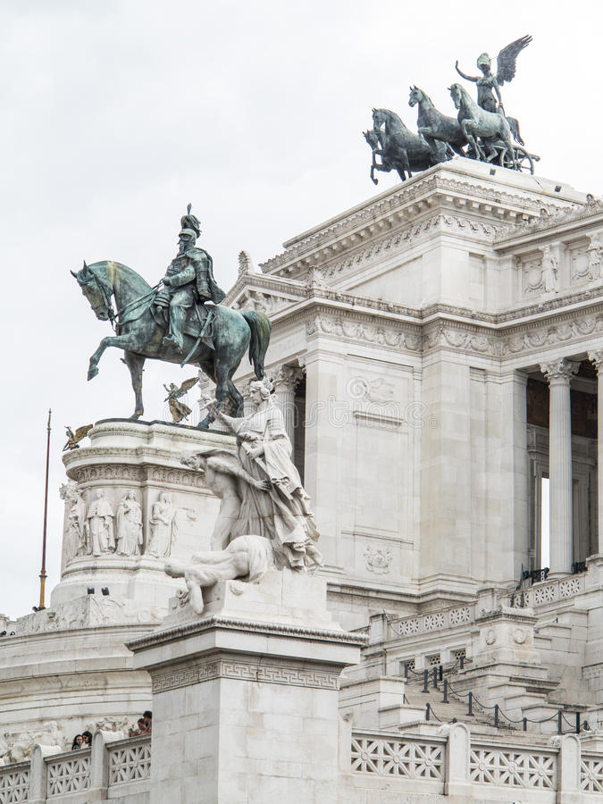 Denkmal Vittorio Emanuele II lizenzfreies stockbild