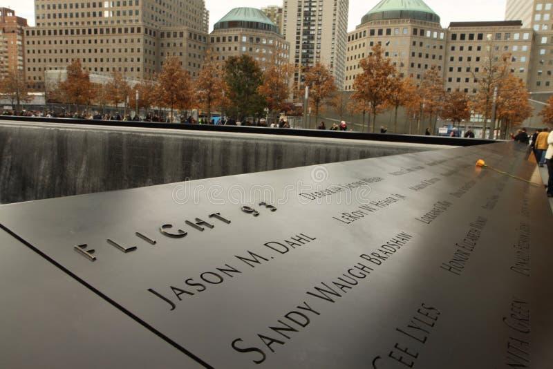Denkmal von 9-11-2001 lizenzfreie stockfotos