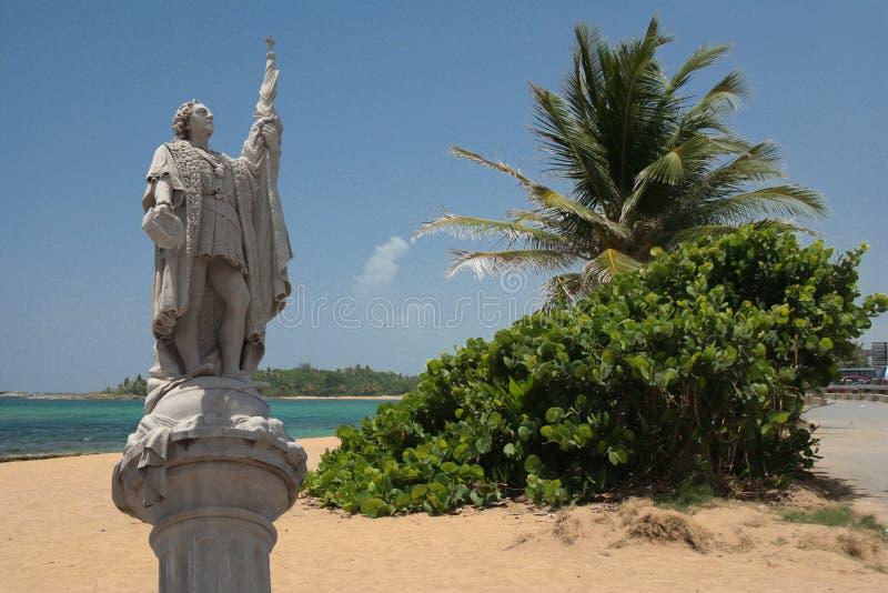 Denkmal von Columbus, der Seeleute stockfotografie
