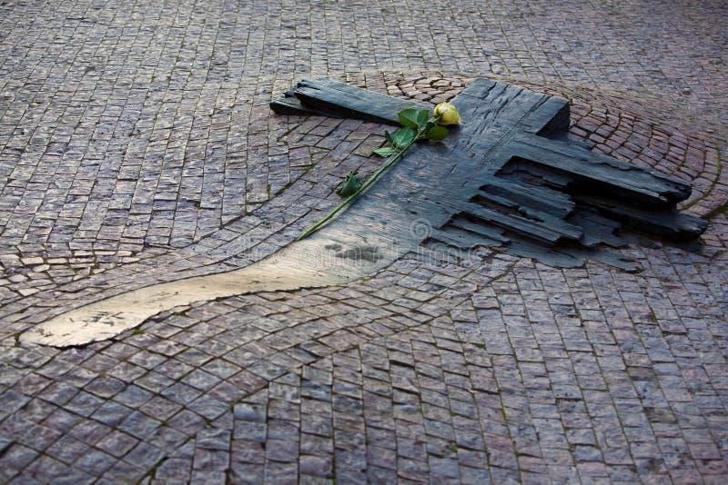 Denkmal von Jan. Palach und von Jan. Zajic stockbilder