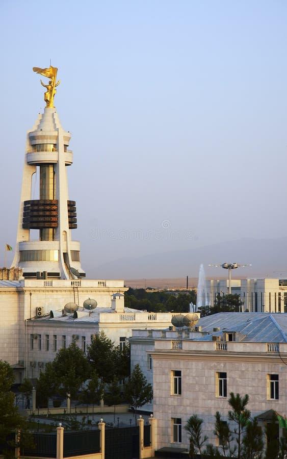 Denkmal von Saparmurat Niyazov, Präsident von Turkmenistan stockfoto
