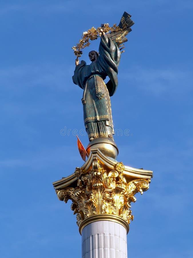 Denkmal von Unabhängigkeit von Ukraine in Kiew lizenzfreie stockfotos