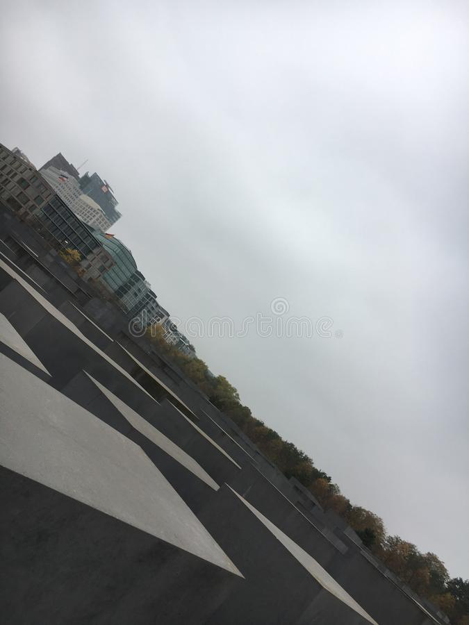 Denkmal zu den ermordeten Juden - Berlin lizenzfreie stockfotografie