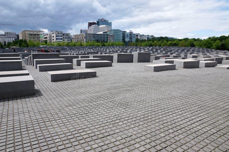 Denkmal zu den ermordeten Juden von Europa, alias von Holocaust-Denkmal lizenzfreies stockbild