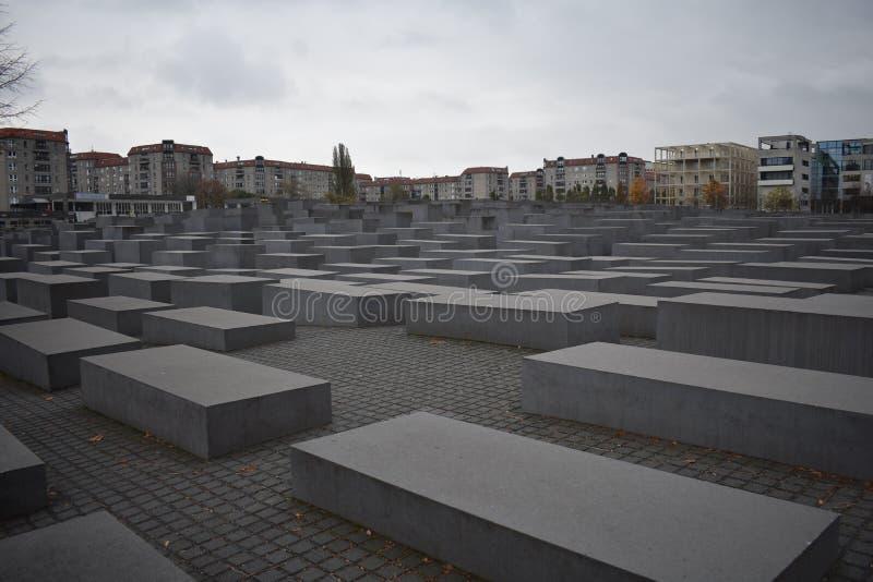Denkmal zu den ermordeten Juden von Europa in Berlin lizenzfreie stockfotografie
