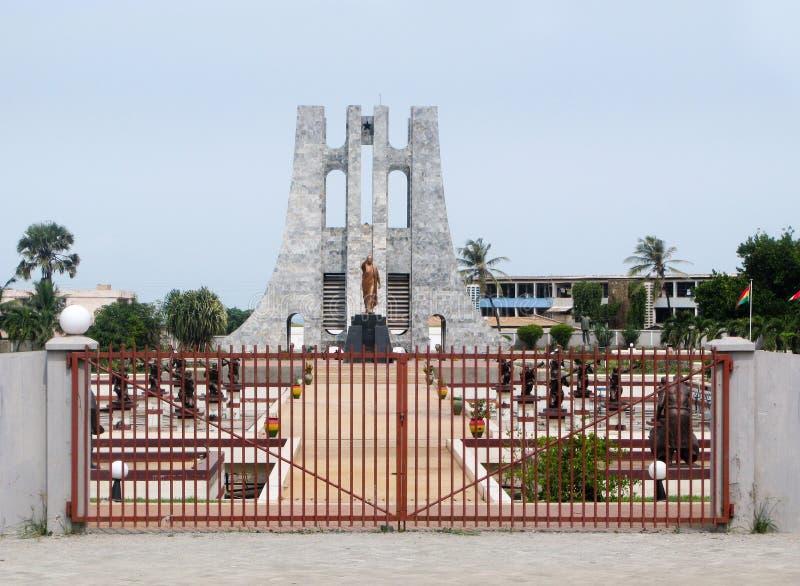 Denkmal zu Kwame Nkrumah in Accra Ghana stockbilder
