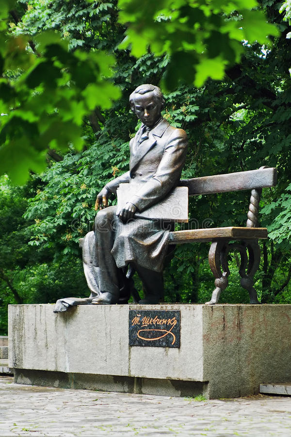 Denkmal zu Taras Shevchenko in Chernihiv, Ukraine lizenzfreie stockfotografie
