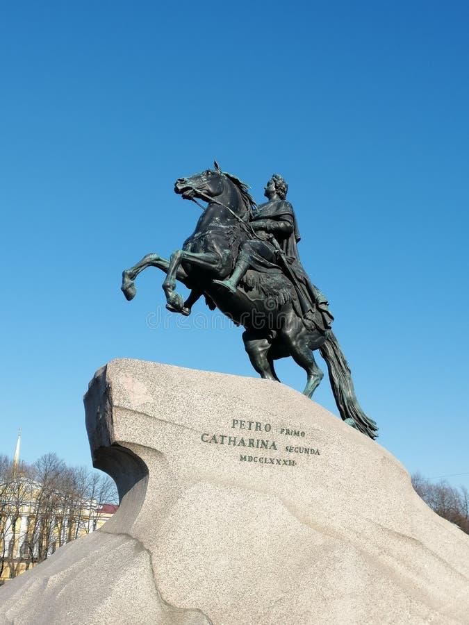 Denkmal zu tsar Peter der Große lizenzfreies stockfoto