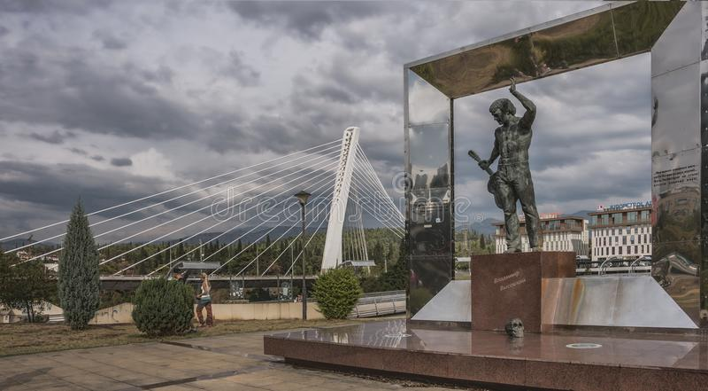 Denkmal zu V Vysotsky stockfotografie