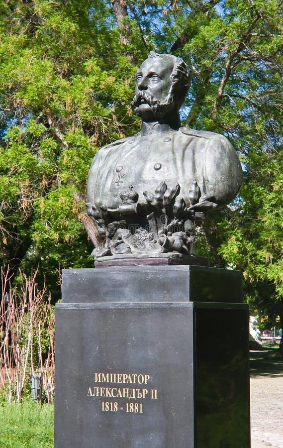 Denkmal zum Befreier Tsar Alexander II in Pleven stockbilder