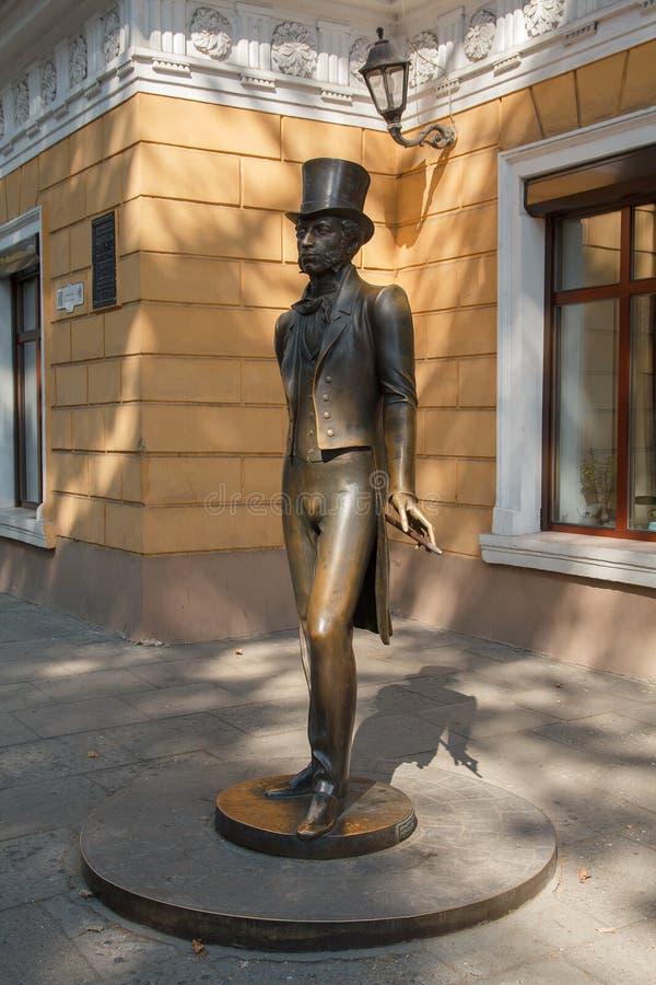Denkmal zum großen russischen Dichter Alexander Pushkin odessa stockbilder