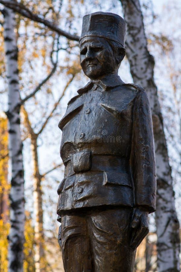 Denkmal zum jüngsten Soldaten lizenzfreie stockfotografie