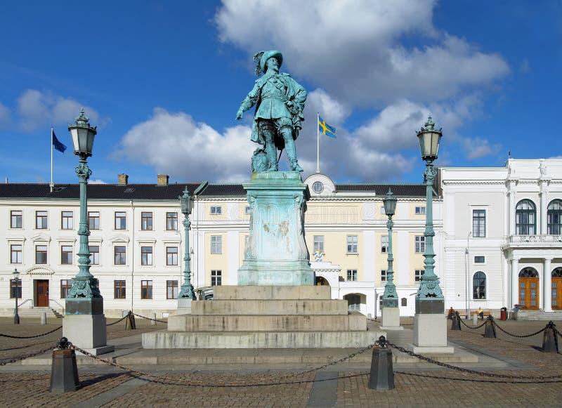 Denkmal zum schwedischen König Gustav II Adolf stockbild