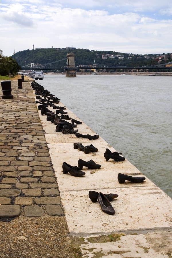 Denkmal zum Shoah in Budapest lizenzfreies stockbild