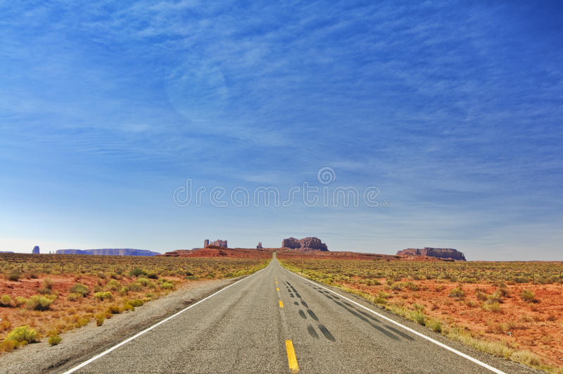 Denkmaltal in Utah, zwischenstaatliche 163, USA lizenzfreie stockbilder
