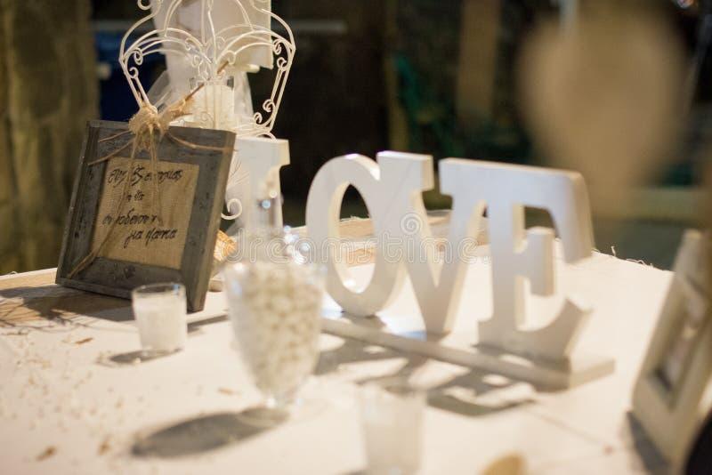 Denkwürdige Zeichen für eine unvergessliche Hochzeit lizenzfreie stockfotografie