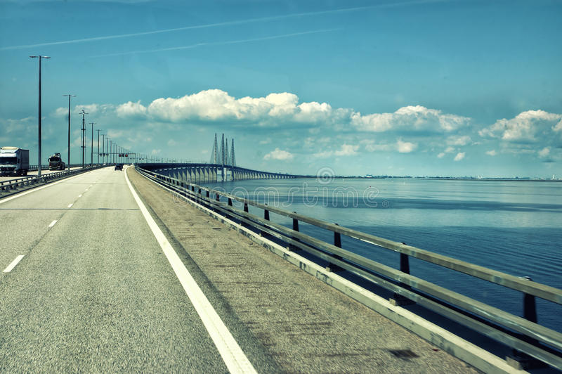Denmark bridge stock image