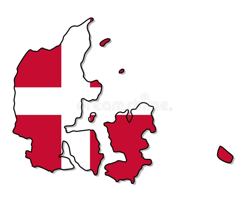 denmark Carte d'illustration de vecteur du Danemark illustration libre de droits