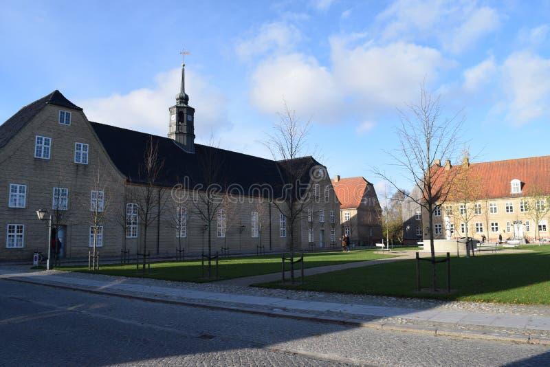 2015. Denmark. Christiansfeld. UNESCO: Church stock photo