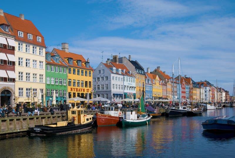 Denmark. Copenhagen. Nyhavn (New Harbour) stock photography