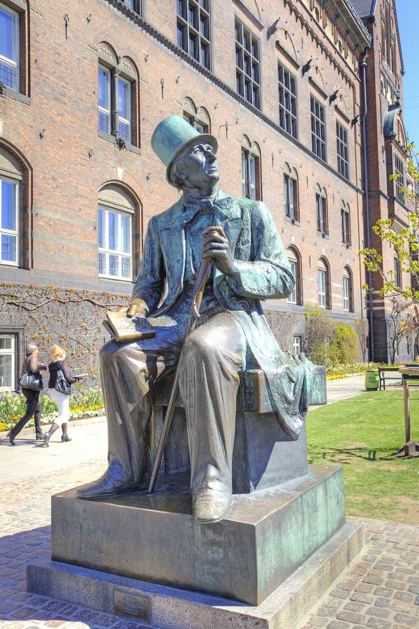 Denmark. Copenhagen. Hans Christian Andersen. DENMARK, COPENHAGEN - May 02.2013: Sculpture of the great children's writer, storyteller Hans Christian Andersen stock image