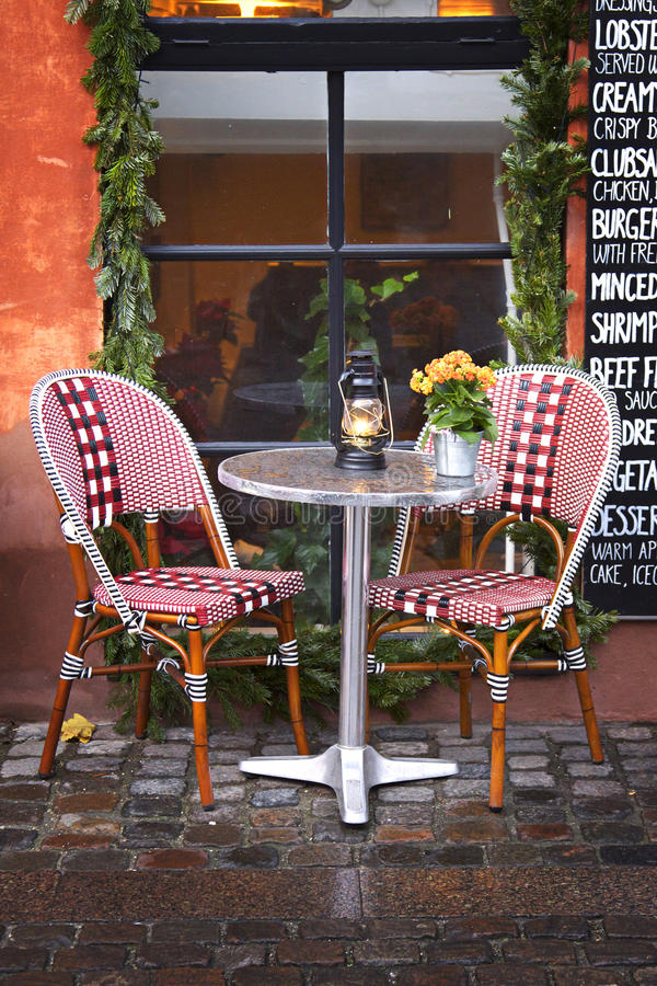 Download Denmark: Cozy Restaurant And Winter Royalty Free Stock Photography - Image: 22441137