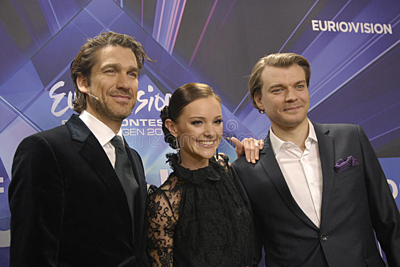 DENMARK_EUROVISION SONG CONTEST 2014. COPENHAGEN /DENMARK- 04 February 2014 _Danish radion national broadcasting unveils today Eurovision song contest 2014 hosts royalty free stock photography
