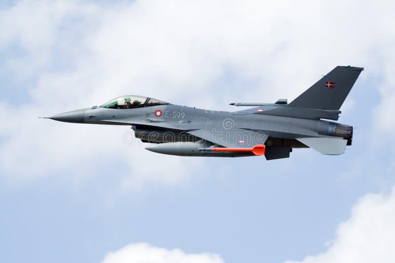 denmark f16-fighterjet arkivbild