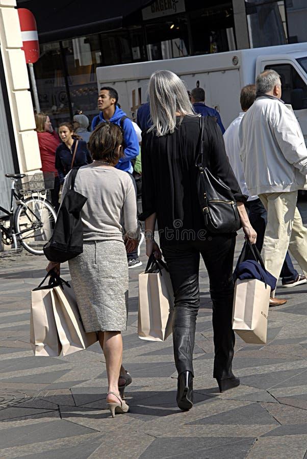 DENMARK_female konsumenci obraz stock