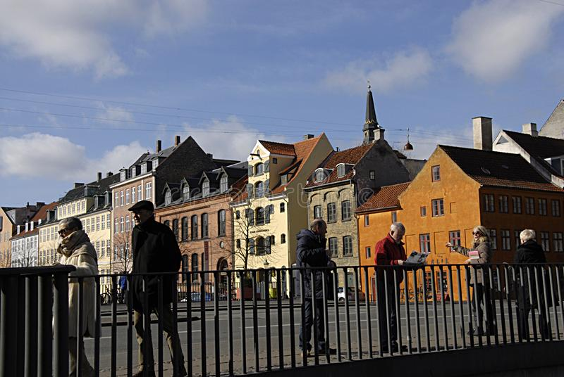 DENMARK_FIRST春日在哥本哈根 库存图片