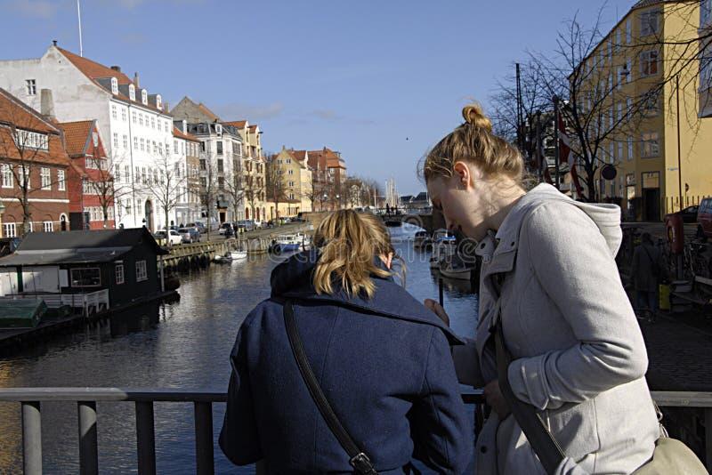 DENMARK_FIRST春日在哥本哈根 库存照片