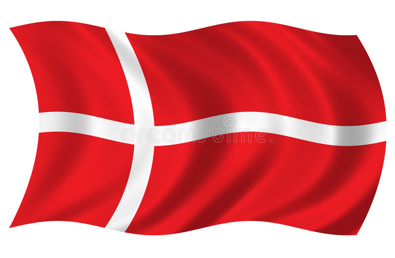 Denmark Flag vector illustration