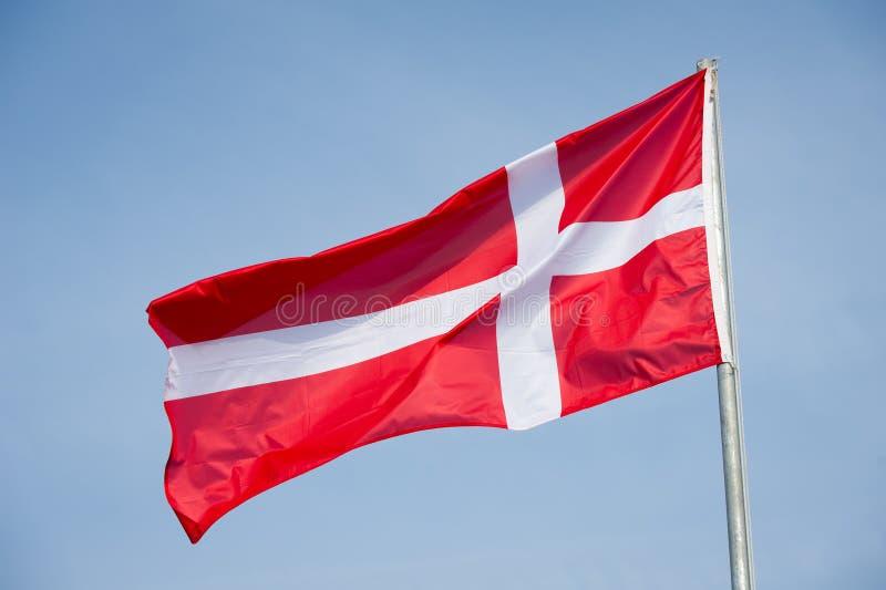 denmark flagga royaltyfri bild