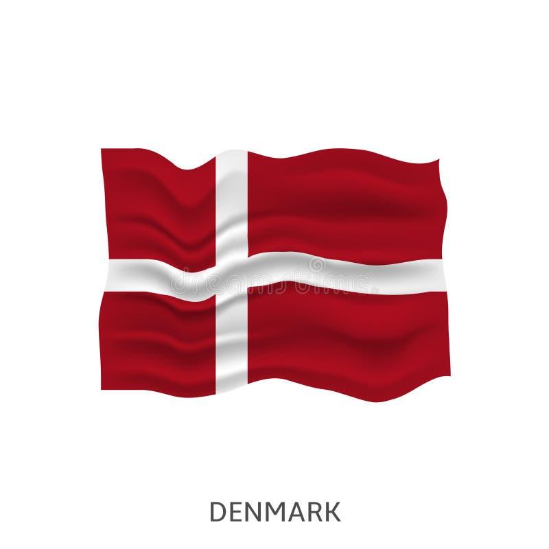 denmark flagga vektor illustrationer