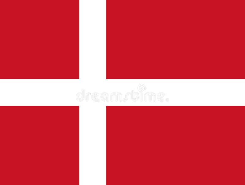 denmark flagganational också vektor för coreldrawillustration royaltyfri illustrationer