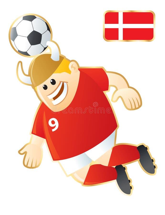 denmark fotbollmaskot stock illustrationer