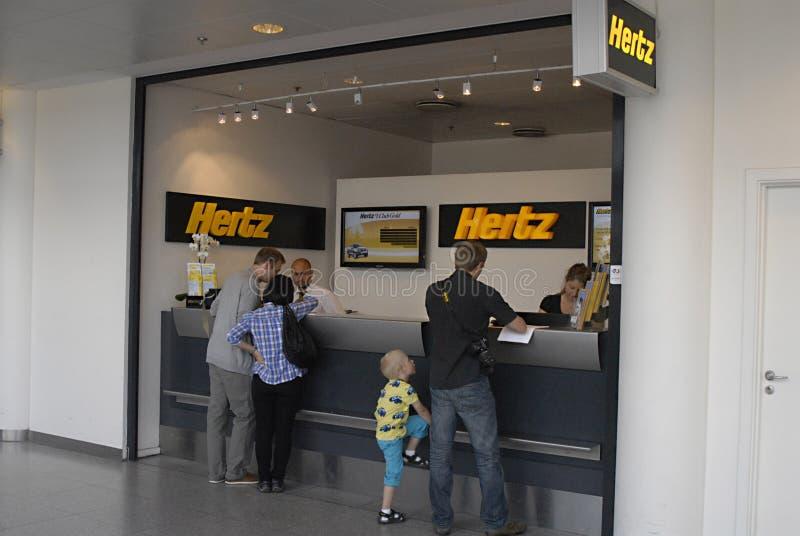 DENMARK_hertz rental car booking royalty free stock photography