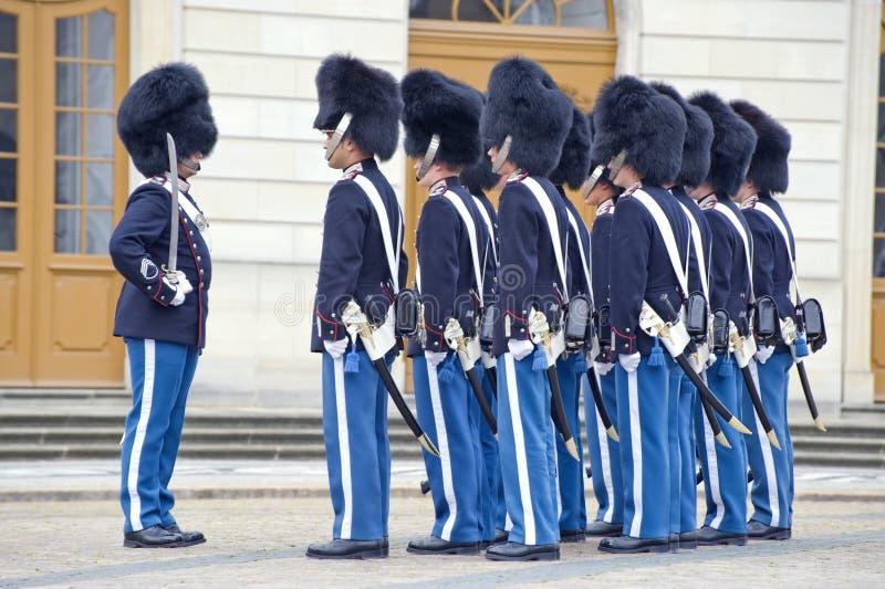 denmark królewski strażowy zdjęcia royalty free