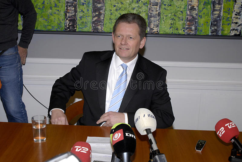 DENMARK_LARS BARFOED. DENMARK / COPENHAGEN .Lars Barfoed, New leader of Conservative party ,and danish minister for law and order Justice and new vice prime stock photo