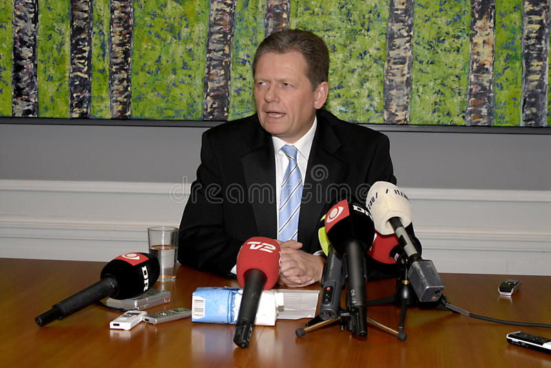 DENMARK_LARS BARFOED. DENMARK / COPENHAGEN .Lars Barfoed, New leader of Conservative party ,and danish minister for law and order Justice and new vice prime stock photography
