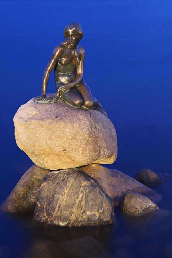 denmark liten mermaid royaltyfria foton