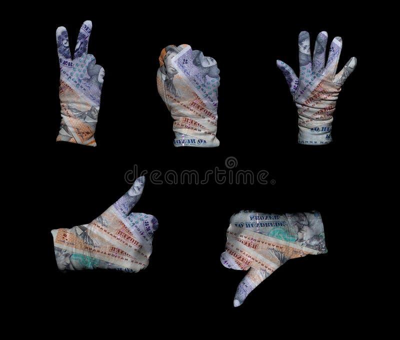 Denmark Money Gloves Royalty Free Stock Photography