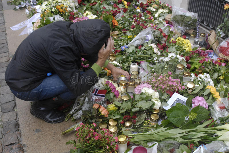 Download DENMARK_PEOPLE PAY RESPECT FOR NORWAY Editorial Stock Photo - Image: 20449228