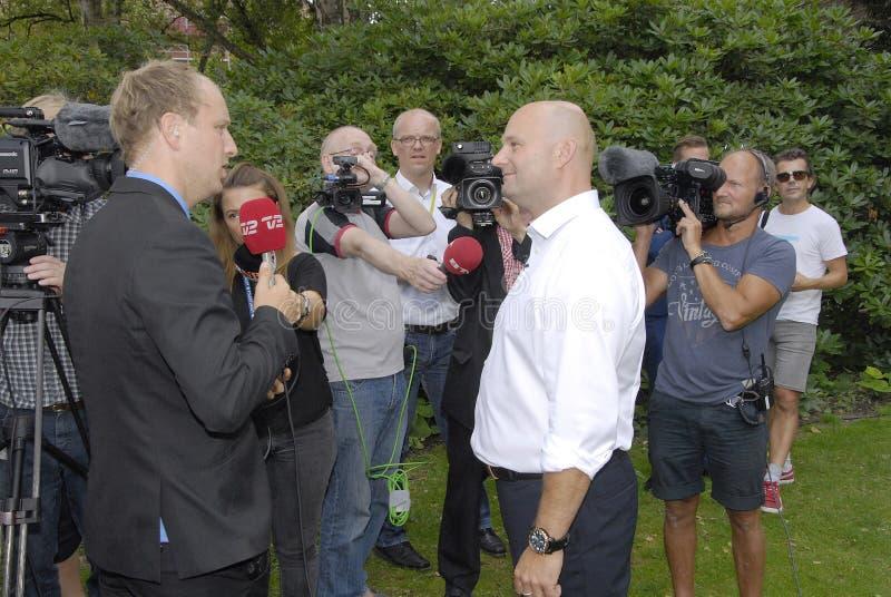 DENMARK_S�REN PAPE POULSEN. COPENHAGEN /DENMARK- Soren Pape Poulsen(S�ren Pape Poulsen) new hand picked leader and chairman of danish conservative royalty free stock photos