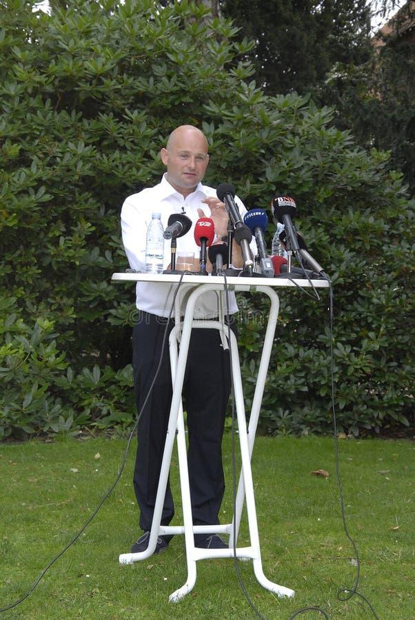DENMARK_S�REN PAPE POULSEN. COPENHAGEN /DENMARK- Soren Pape Poulsen(S�ren Pape Poulsen) new hand picked leader and chairman of danish conservative stock image