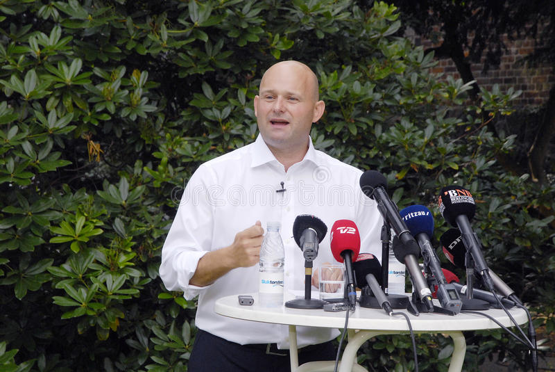 DENMARK_S�REN PAPE POULSEN. COPENHAGEN /DENMARK- Soren Pape Poulsen(S�ren Pape Poulsen) new hand picked leader and chairman of danish conservative stock photos