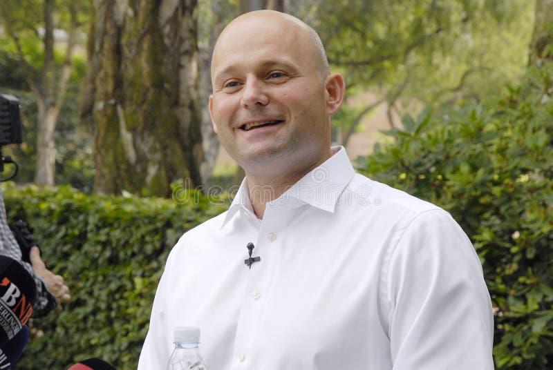 DENMARK_S�REN PAPE POULSEN. COPENHAGEN /DENMARK- Soren Pape Poulsen(S�ren Pape Poulsen) new hand picked leader and chairman of danish conservative royalty free stock image